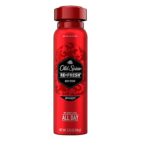Old Spice Red Zone Collection Body Spray Swagger Scent - 3.75 Oz.