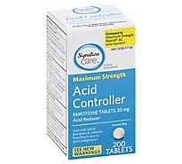 Signature Care Acid Controller Acid Reducer Famotidine 20mg Maximum Strength Tablet - 200 Count