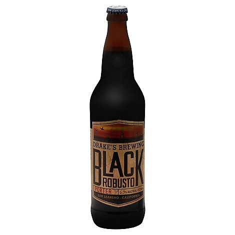 Drakes Beer Black Robusto Porter Bottles - 22 Fl. Oz.