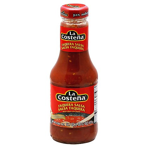 La Costena Salsa Taquera Hot Bottle - 16.7 Oz