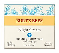 Burts Bees Intense Hydration Night Cream With Clary Sage - 1.8 Oz