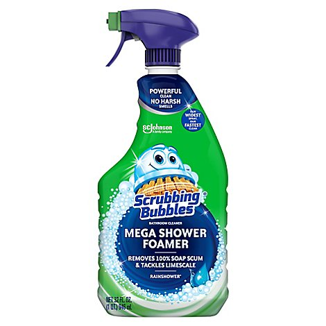 Scrubbing Bubbles Mega Shower Foamer Spray Rainshower 32 FL OZ