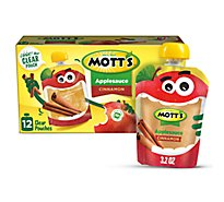 Motts Cinnamon Applesauce clear pouches - 12-3.2 Oz