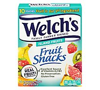 Welchs Fruit Snacks Island Fruits - 10-0.9 Oz