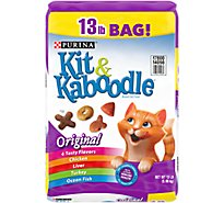 Kit & Kaboodle Cat Food Original Chicken Liver Turkey & Ocean Fish Bag - 13 Lb