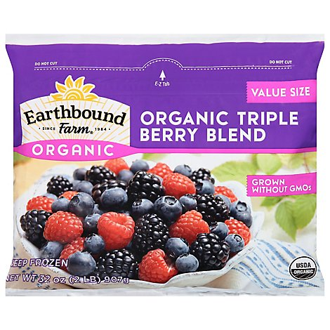 Earthbound Farm Organic Frozen Triple Berry Blend - 2 Lb