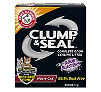 ARM & HAMMER Cat Litter Clump & Seal Odor Sealing Multi-Cat Box - 28 Lb