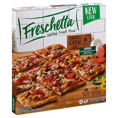 Freschetta Pizza Brick Oven Crust Supreme Frozen - 23.28 Oz