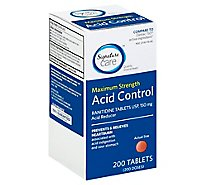 Signature Care Acid Control Acid Reducer Ranitidine USP 150mg Maximum Strength Tablet - 200 Count