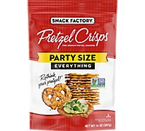 Snack Factory Pretzel Crisps Pretzel Crackers Thin Crunchy Deli Style Everything - 14 Oz