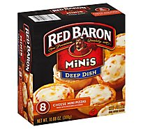 Red Baron Pizza Deep Dish Minis Cheese 8 Count - 10.88 Oz