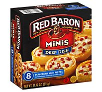 Red Baron Pizza Deep Dish Minis Pepperoni 8 Count - 11.12 Oz
