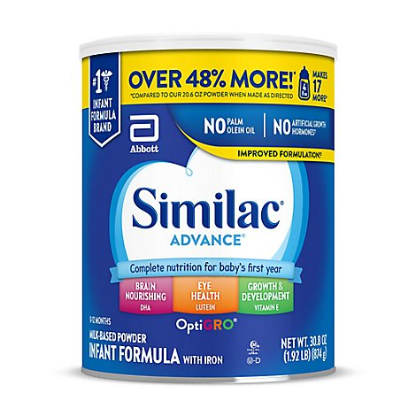 Similac Advance Infant Formula With Iron Powder - 30.8 Oz