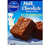 Pillsbury Brownie Mix Milk Chocolate Family Size - 18.4 Oz