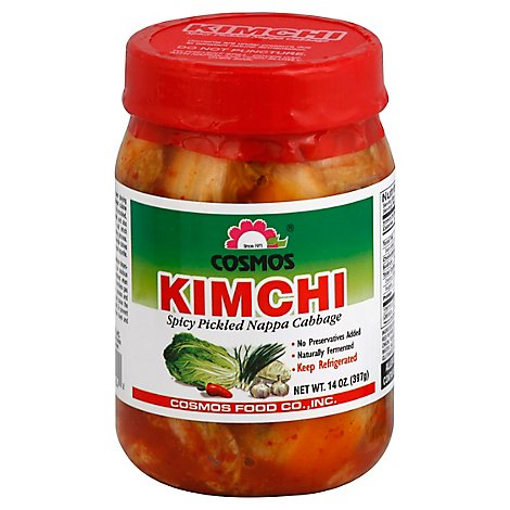 Cosmos Kimchi Pickled Nappa Cabbage Spicy - 14 Oz