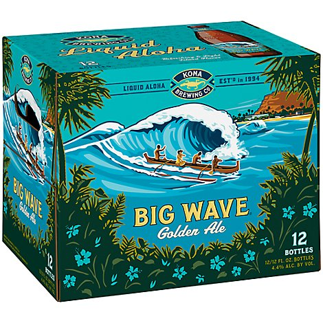 Kona Ale Golden Big Wave In Bottles - 12-12 Fl. Oz.