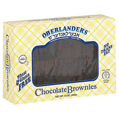 Oberlander Brownies Chocolate Gluten Free - 12 Oz