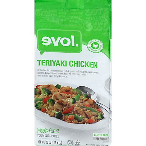 Evol Foods Teryaki Chicken For Two - 20 Oz