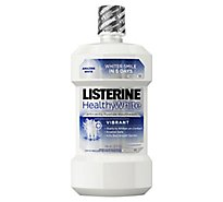 LISTERINE Healthy White Mouthwash Anticavity Clean Mint - 32 Fl. Oz.