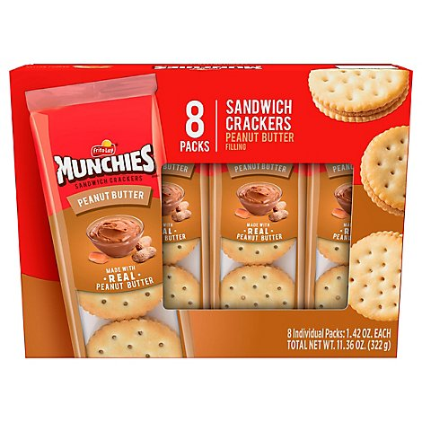 Munchies Crackers Sandwich Peanut Butter Toast Crackers - 8-1.42 Oz
