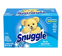 Snuggle Fabric Softener Sheets Blue Sparkle Box - 230 Count