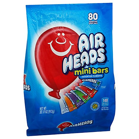 Airheads Candy Mini Bars - 80 Count
