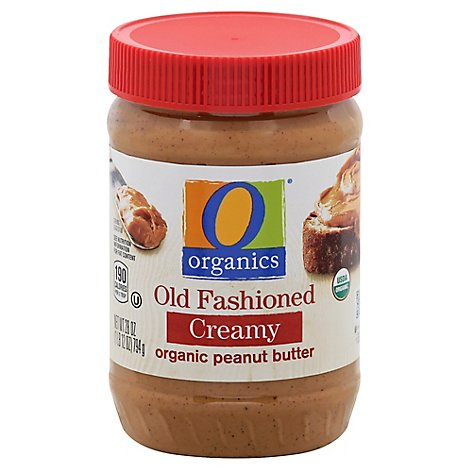 O Organics Organic Peanut Butter Spread Old Fashioned Creamy - 28 Oz