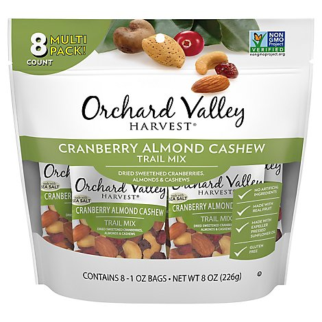 Orchard Valley Harvest Trail Mix Cranberry Almond Cashew - 8-1 Oz