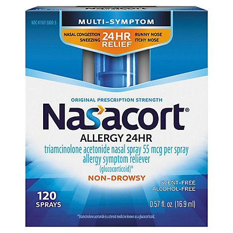 Nasacort Allergy 120 Sprays - .57 Fl. Oz.
