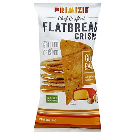 Primizie Flatbread Crisps Gouda Garlic - 6.5 Oz