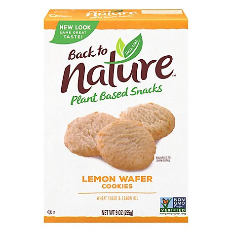 back to NATURE Cookies 100% Natural California Lemon Box - 9 Oz