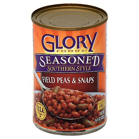 Glory Foods Seasoned Field Peas & Snaps - 15 Oz