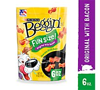 Beggin Littles Dog Treat Bacon Flavor Pouch - 6 Oz