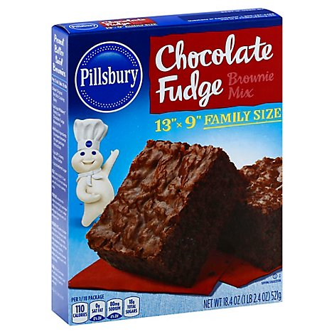 Pillsbury Brownie Mix Chocolate Fudge Family Size - 18.4 Oz