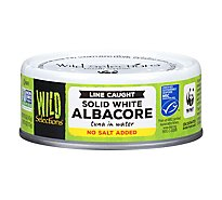 Wild Selections Tuna Albacore Solid White No Salt Added - 5 Oz