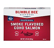Bumble Bee Salmon Smoked Fillets in Oil - 3.75 Oz