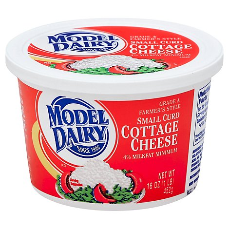 Model Dairy Small Curd Cottage Cheese - 16 Oz
