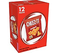 Cheez-It Baked Snack Cheese Crackers Original Single Serve 12 Count - 12 Oz