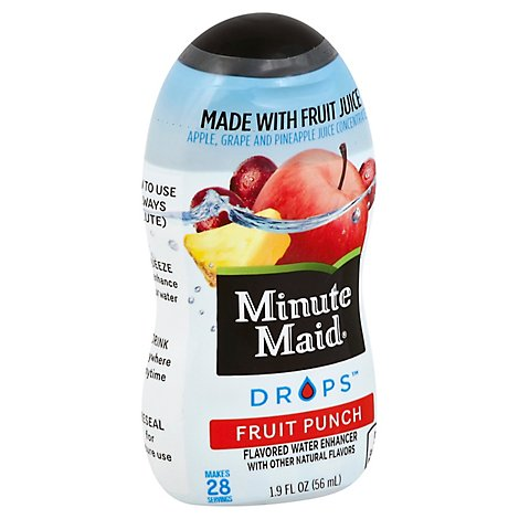 Minute Maid Drops Flavored Water Enhancer Fruit Punch - 1.9 Fl. Oz.