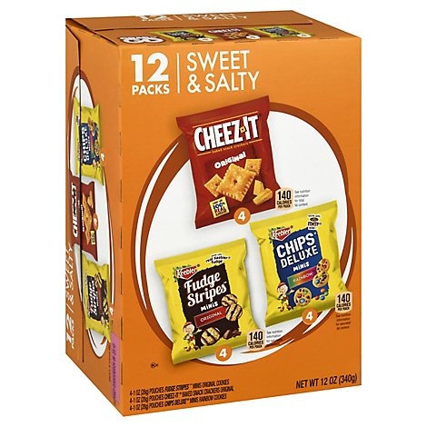 Keebler Snacks Sweet & Salty Variety Pack 12 Count - 12 Oz