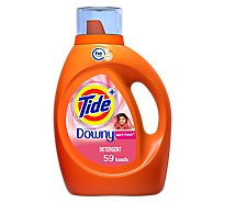 Tide Plus Laundry Detergent Liquid HE Turbo Clean Downy April Fresh - 92 Fl. Oz.