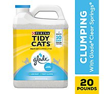 Purina Tidy Cats Cat Litter Clumping For Multiple Cats With Glade Clear Springs Jug - 20 Lb