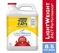 Tidy Cats Cat Litter 24/7 Performance Clumping for Multiple Cats LightWeight Jug - 8.5 Lb