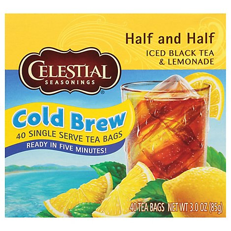 Celestial Seasonings Cool Brew Iced Black Tea & Lemonade Half & Half - 40 Count