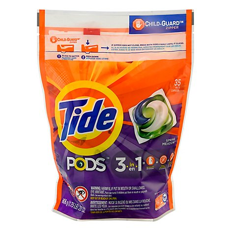 Tide Pods Laundry Detergent Liquid Pacs 3in1 Spring Meadow - 35 Count