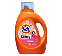 Tide Plus Laundry Detergent Liquid Downy April Fresh - 92 Fl. Oz.