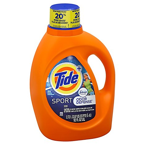 Tide Plus Laundry Detergent Liquid Febreze Freshness Sport Odor Defense - 92 Fl. Oz.