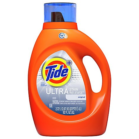 Tide Plus Ultra Laundry Detergent Liquid Stain Release Original - 92 Fl. Oz.