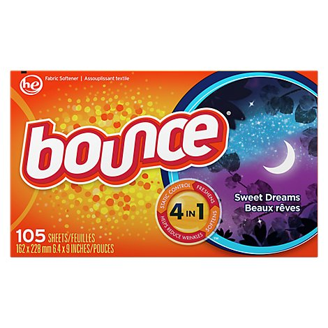 Bounce Fabric Softener Dryer Sheets Sweet Dreams Box - 105 Count