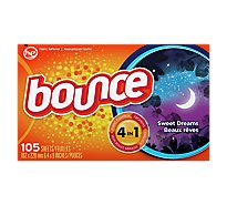 Bounce Fabric Softener Sheets Sweet Dreams Box - 105 Count